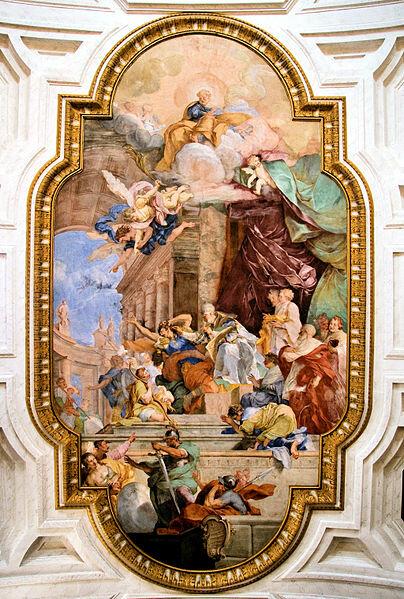 Потолочная фреска, 1706 г.