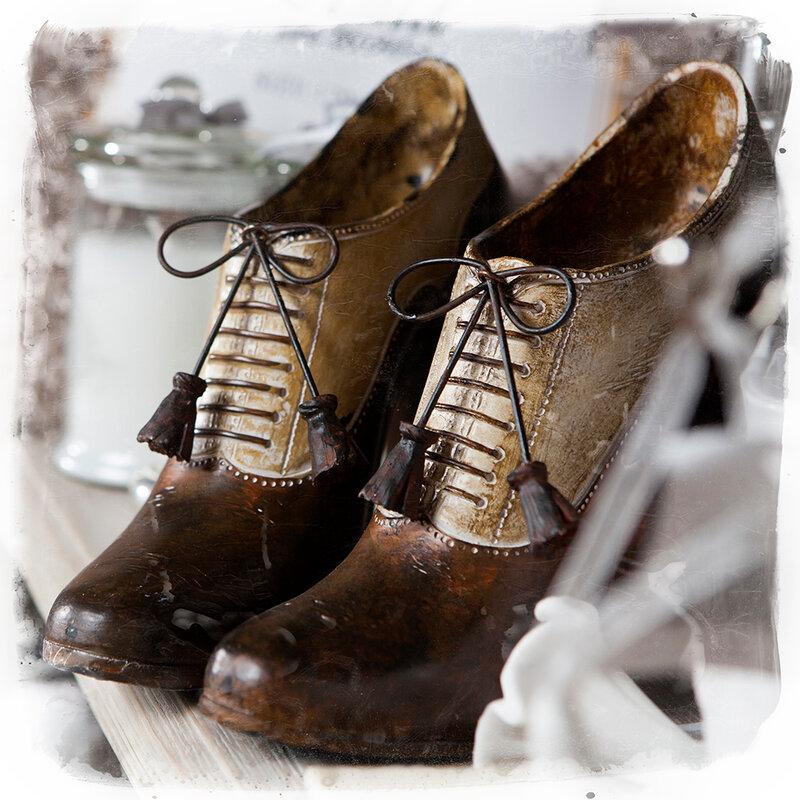 Portobello Road Market . London. Wooden shoes.