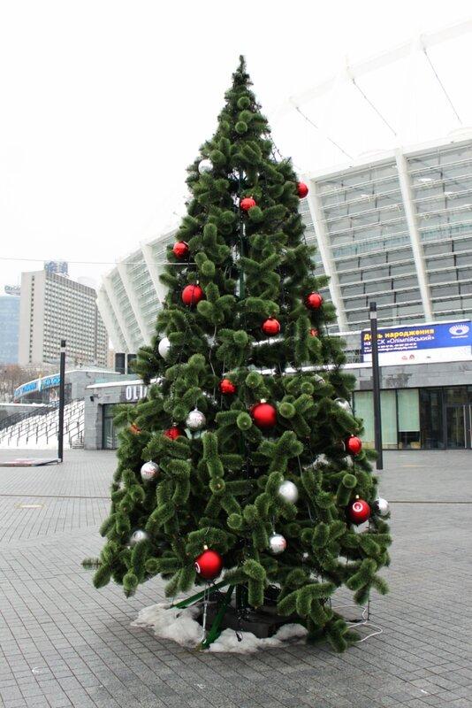 Новогодняя елка на стадионе Олимпийский