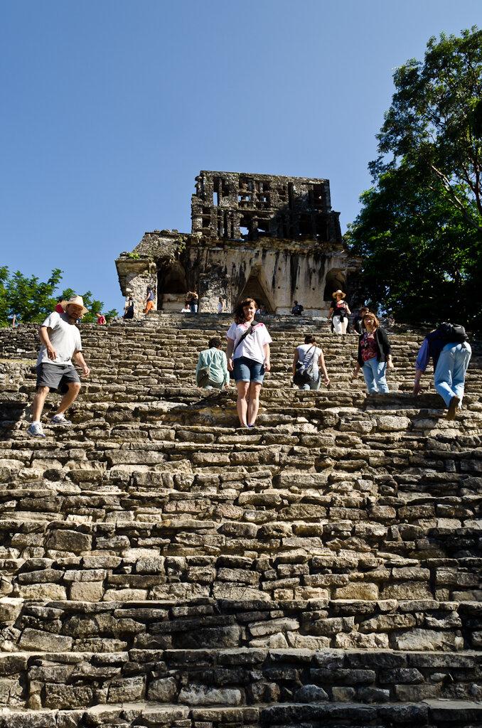 Одно утро на пирамиде Майя. Мексика. Рассказ о поездке на экскурсию в Паленке