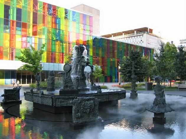 Фонтан Поединок (La Joute Fountain). Монреаль, Канада