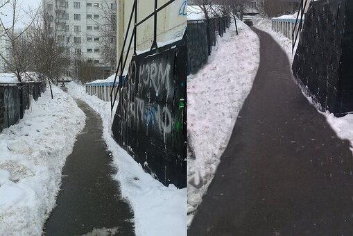 Московские коммунальщики начали убирать снег с помощью фотошопа