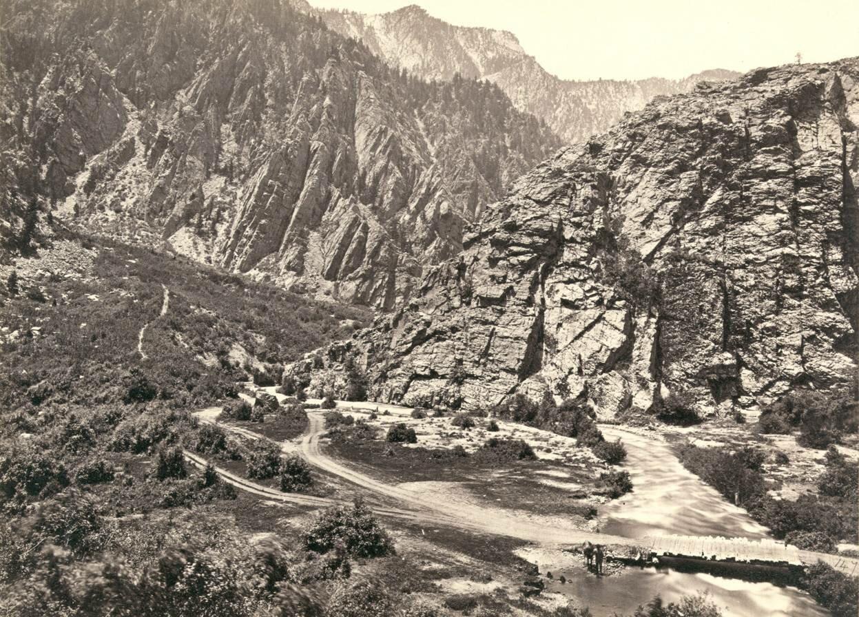 Большой Каньон Коттонвуд, Юта, в 1869 г.