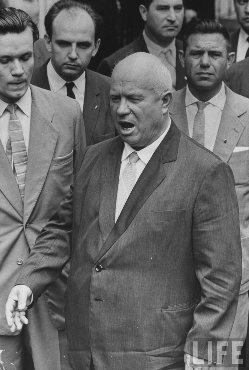 Никита Хрущев во время сессии Генеральной Ассамблеи Организации Объединенных Наций
