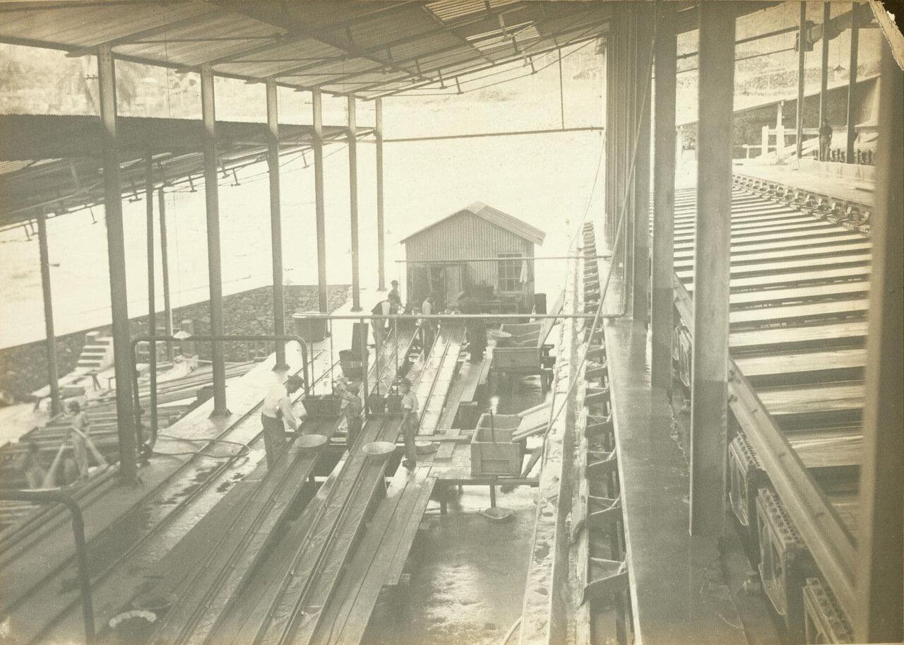 Большинство операций в Морру-Велью были механизированы к 1890. Иногда, однако, применялись старомодные методы, такие как панорамирование, ок. 1893 года