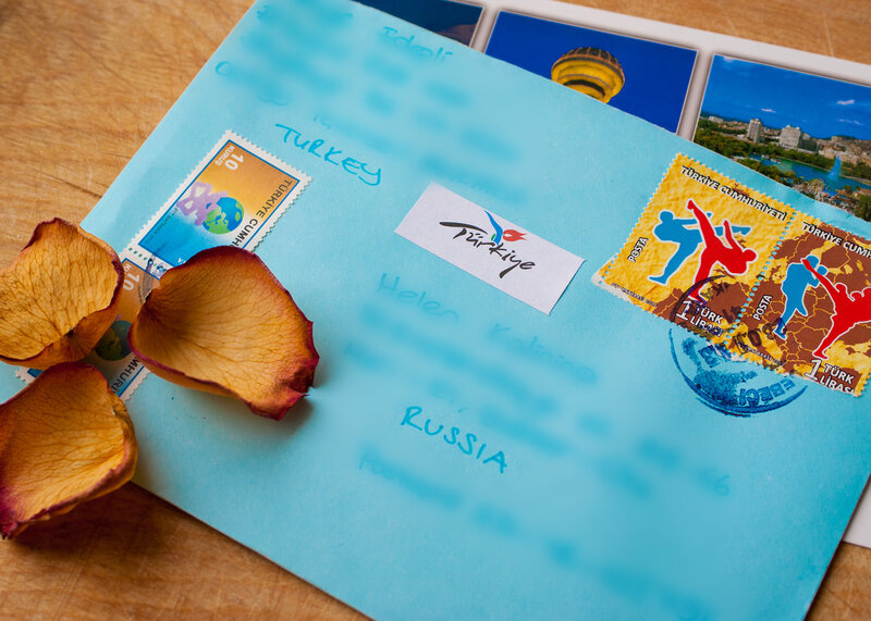 В голубом конверте
