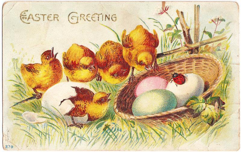 Старинные пасхальные открытки великобритании