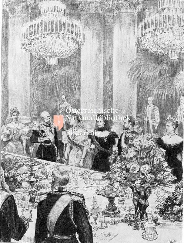 Galadiner zu Ehren von Zar Nikolaus II.