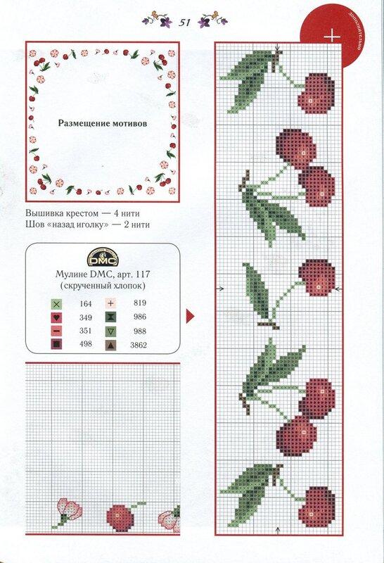 Схемы вышивок крестом на полотенце 29