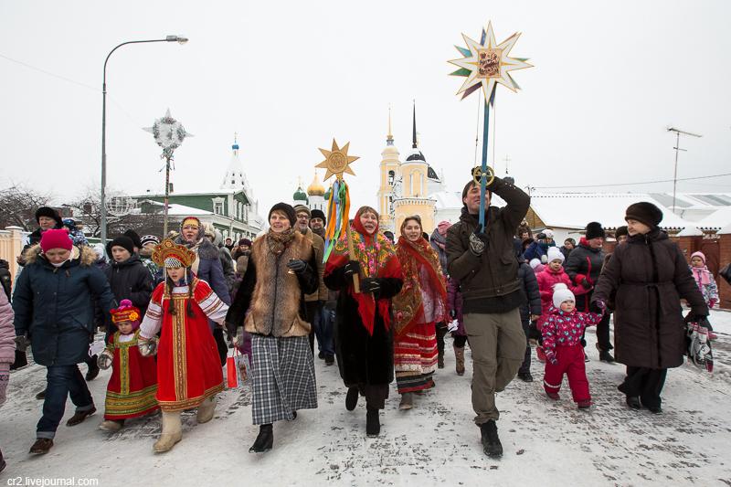 Рождественские колядки в Коломне