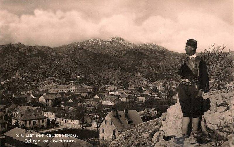 Старые фото Черногории (Цетинье и Ловчен вдалеке)