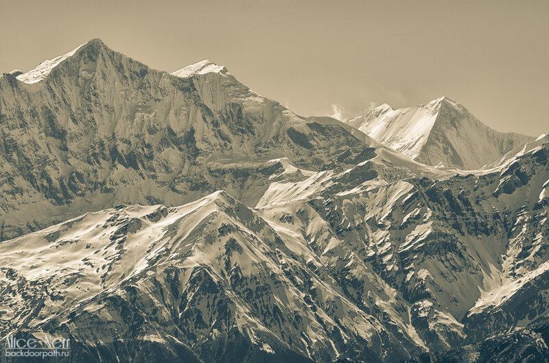 гималайский горный хребет, гималаи, непал