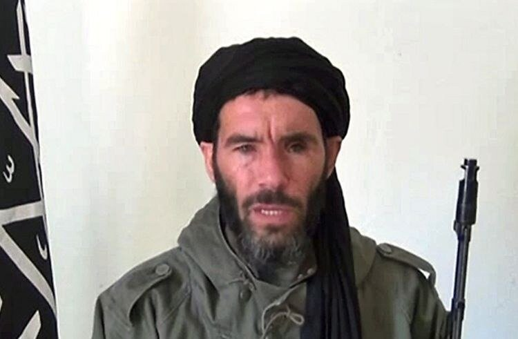 An undated grab from a video obtained by...An undated grab from a video obtained by ANI Mauritanian news agency reportedly shows former Al-Qaeda in the Islamic Maghreb (AQIM) emir Mokhtar Belmokhtar speaking at an undisclosed location. Islamists held 41 f