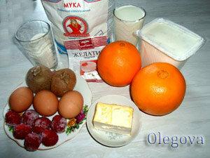 Продукты для фруктового торта