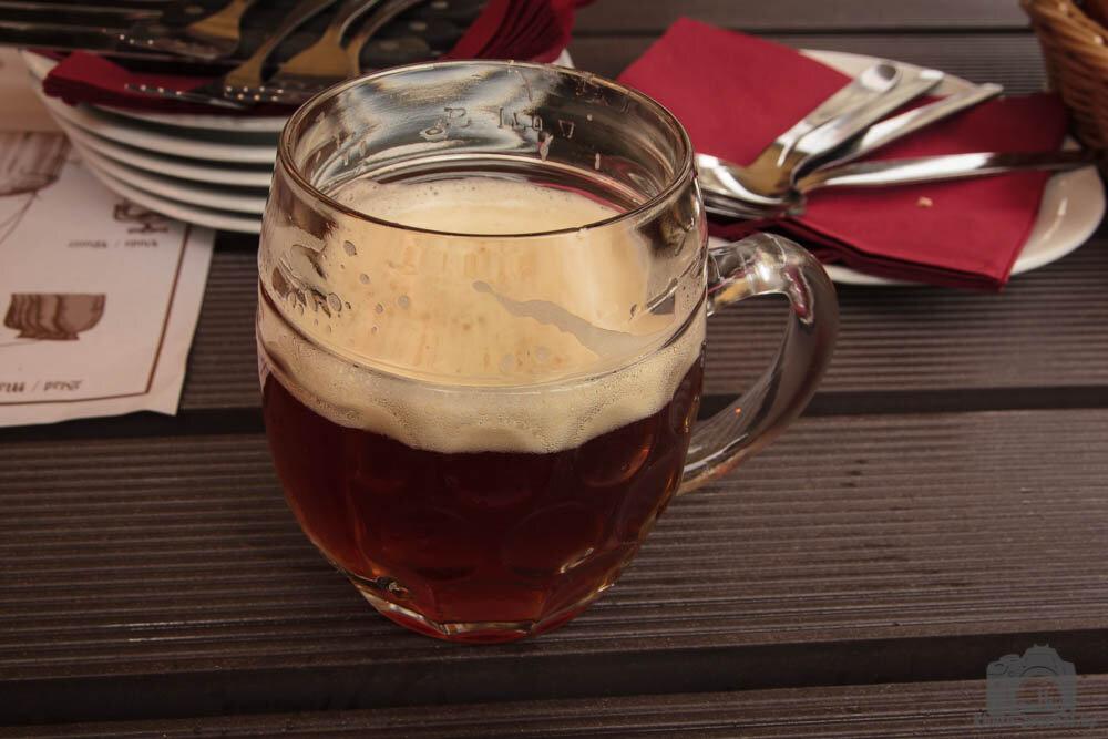 Светлое пиво в пивоварне Страгов