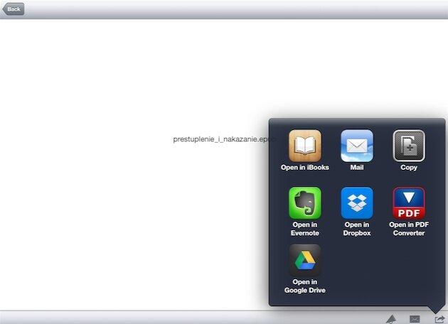 конвертировать pdf в epub на iPad
