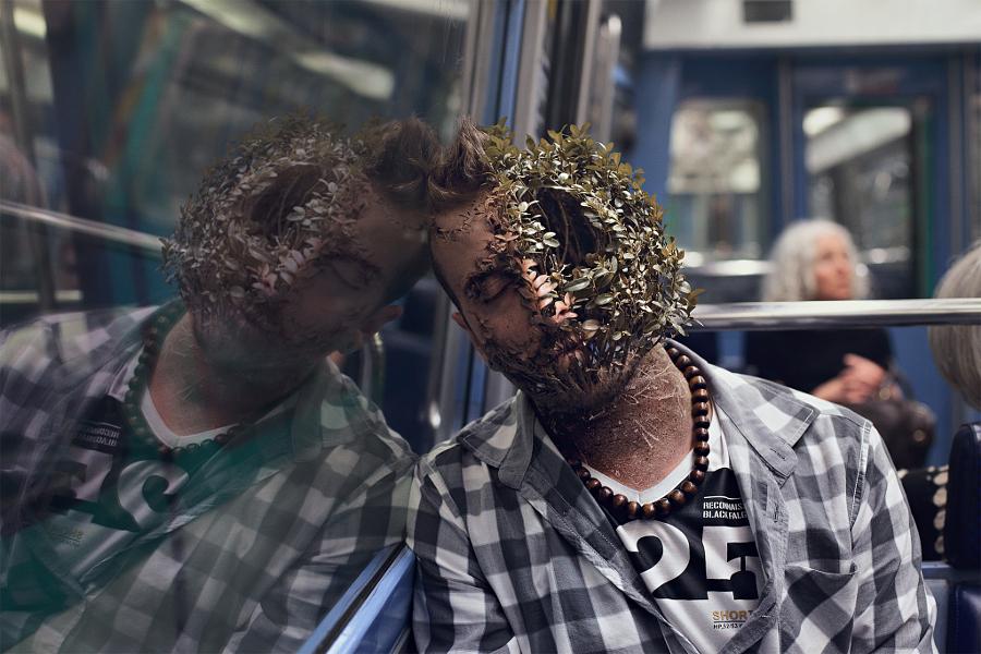 Люди превращаются в растения. Фотоманипуляции Кэла Редбака