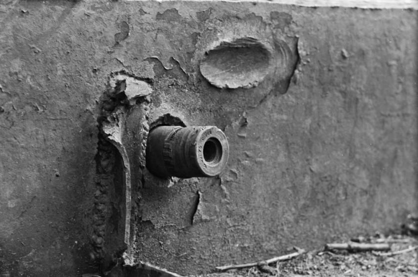 16. Экипаж подводной лодки в скафандрах, 1908 год.