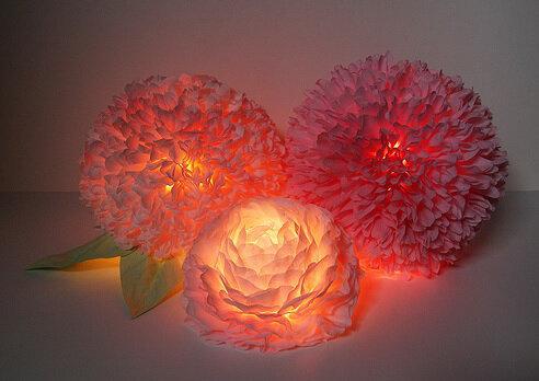 Цветы своими руками лампы