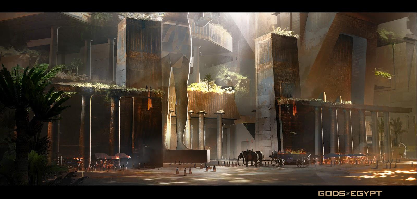 Gods of Egypt Concept Art by Gerhard Mozsi