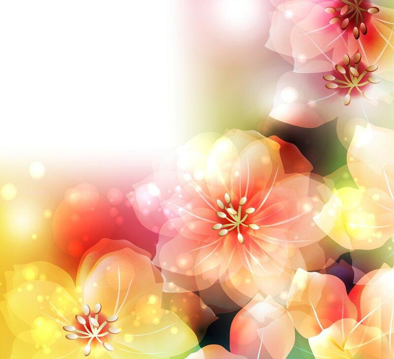 Фон с цветами нежный