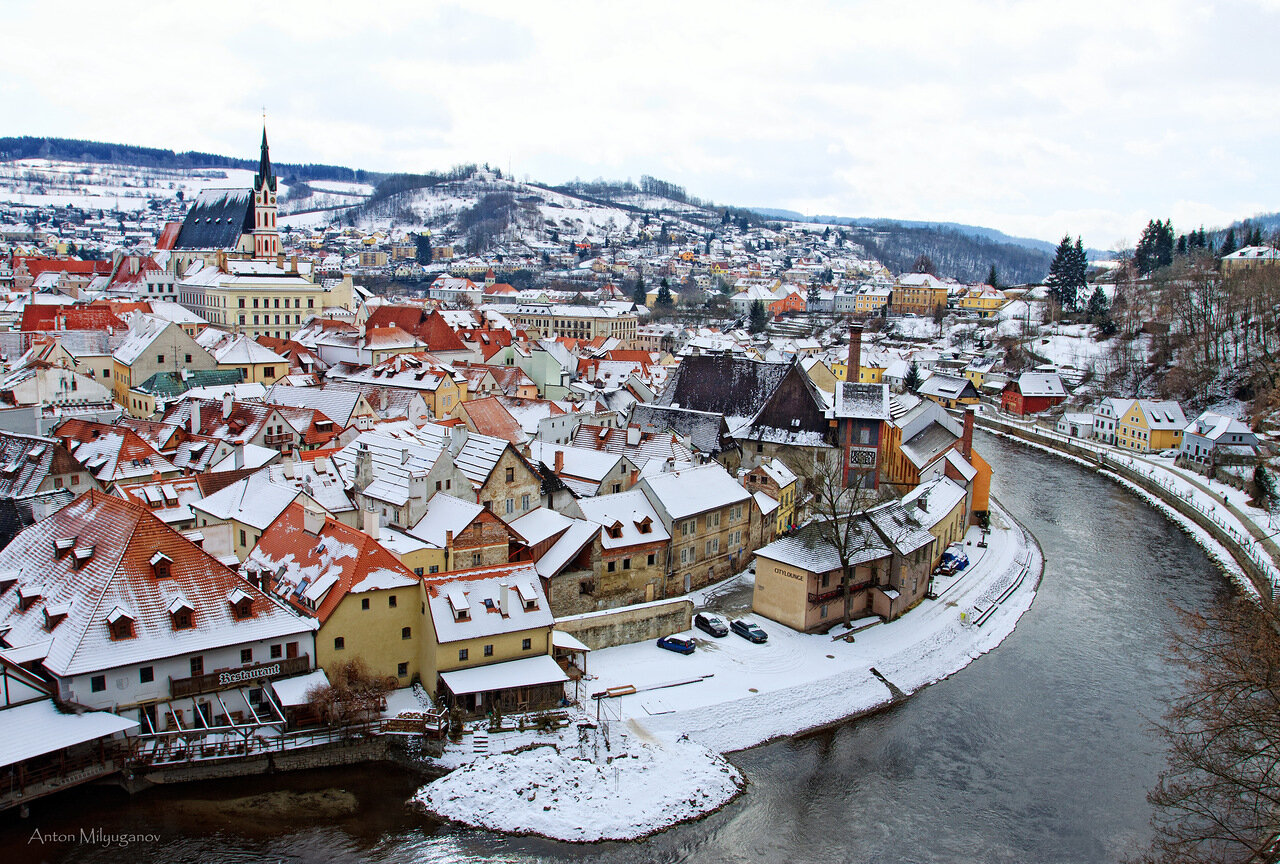 Картинки по запросу чешский крумлов замок зимой