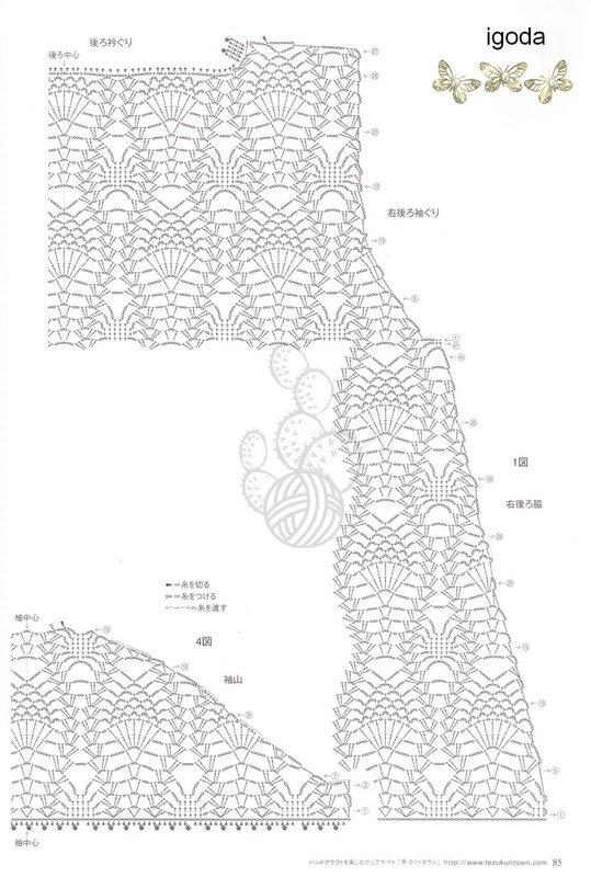 Вязание крючком по японским схемам