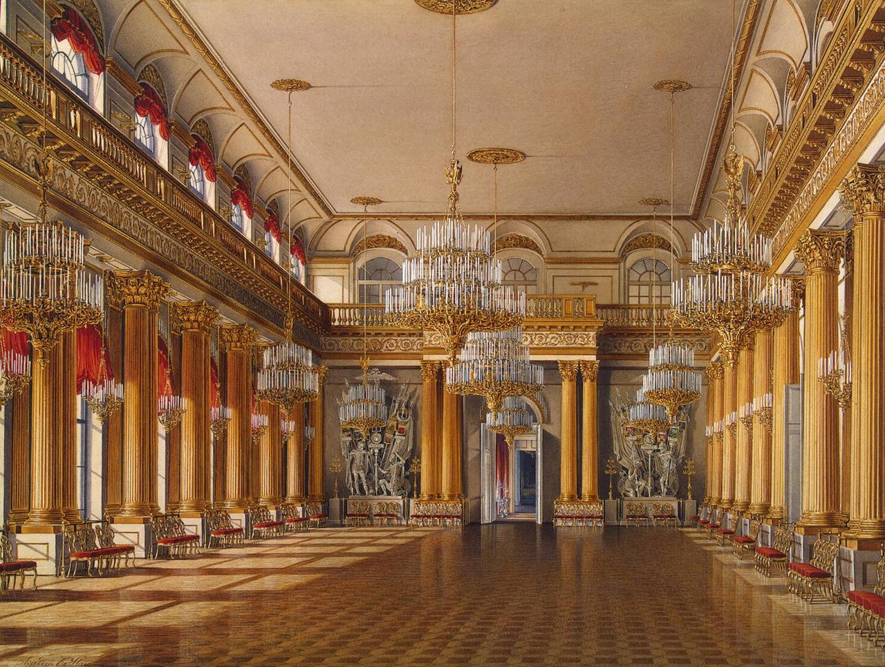 Интерьеры Зимнего дворца. Гербовый зал
