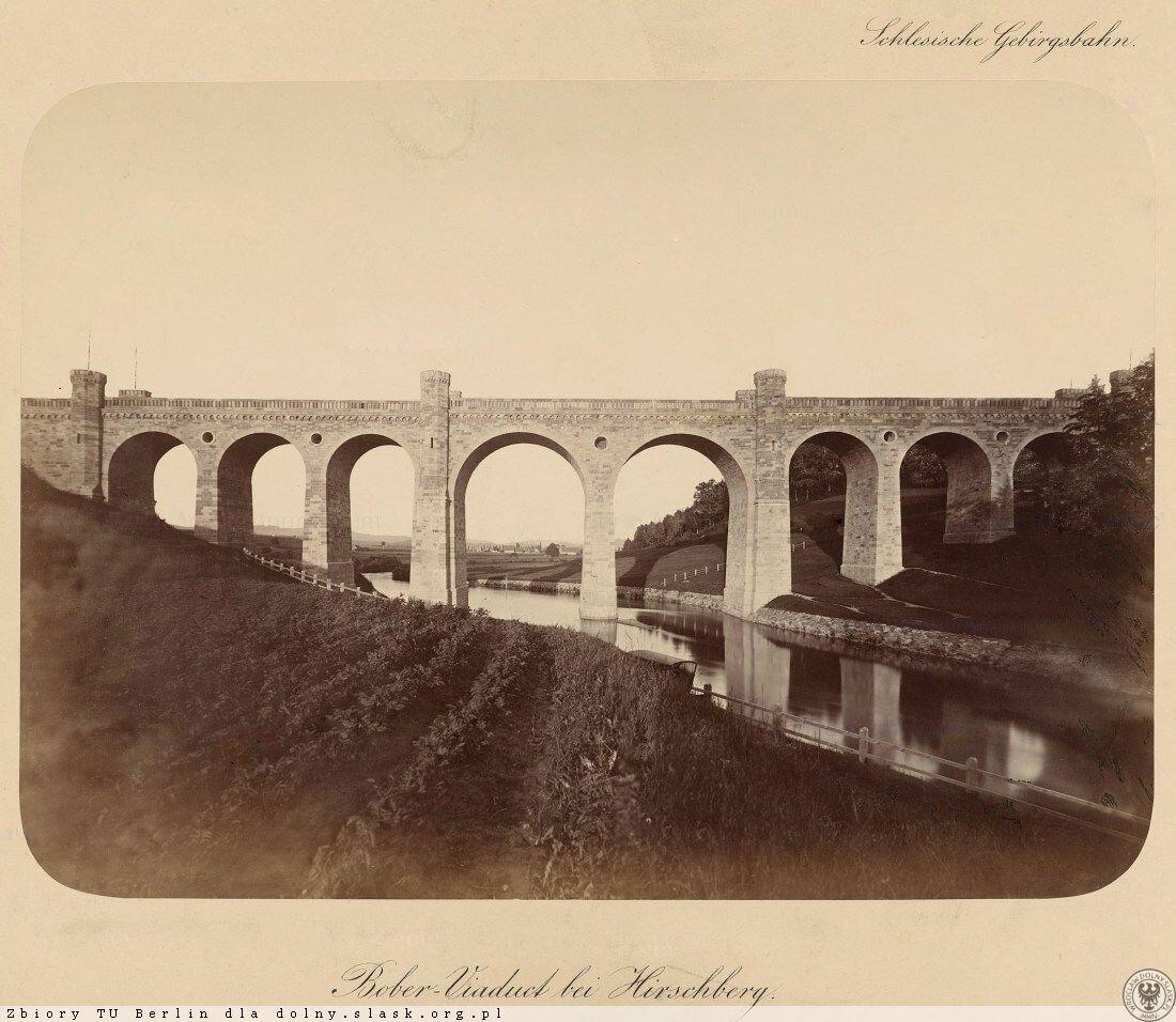 Каменный виадук был крупнейшим строительным объектом на первом этапе строительства Силезской железной дороги