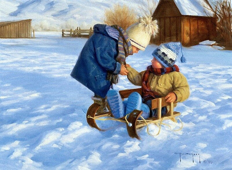 Зима в творчестве Robert Duncan.