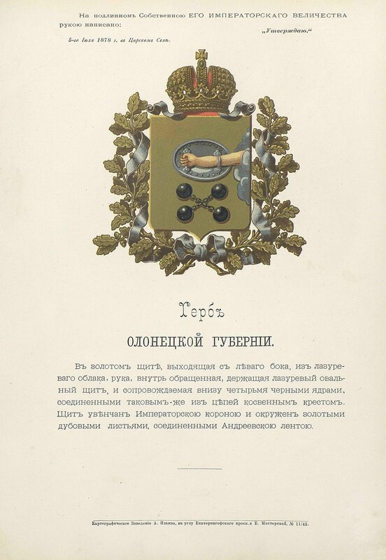 Олонецкая губерния 1880 год