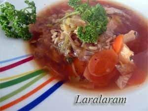 Суп с припущенной семгой по рецепту Джейми Оливер