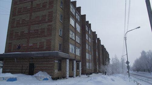 Фото города Инта №3529  Северо-западный угол Морозова 14 10.02.2013_12:12