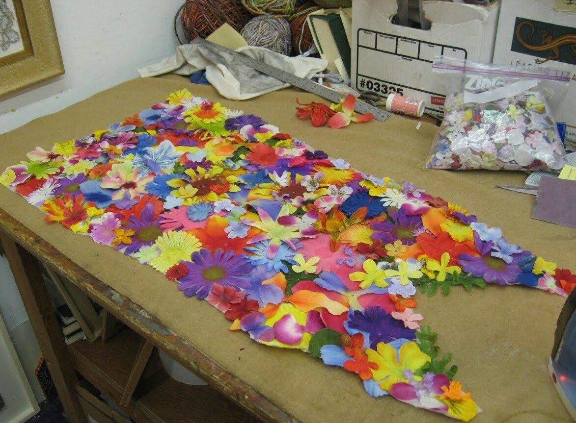 Платья с цветами своими руками