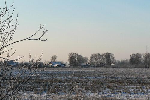 зимняя прогулка деревенька