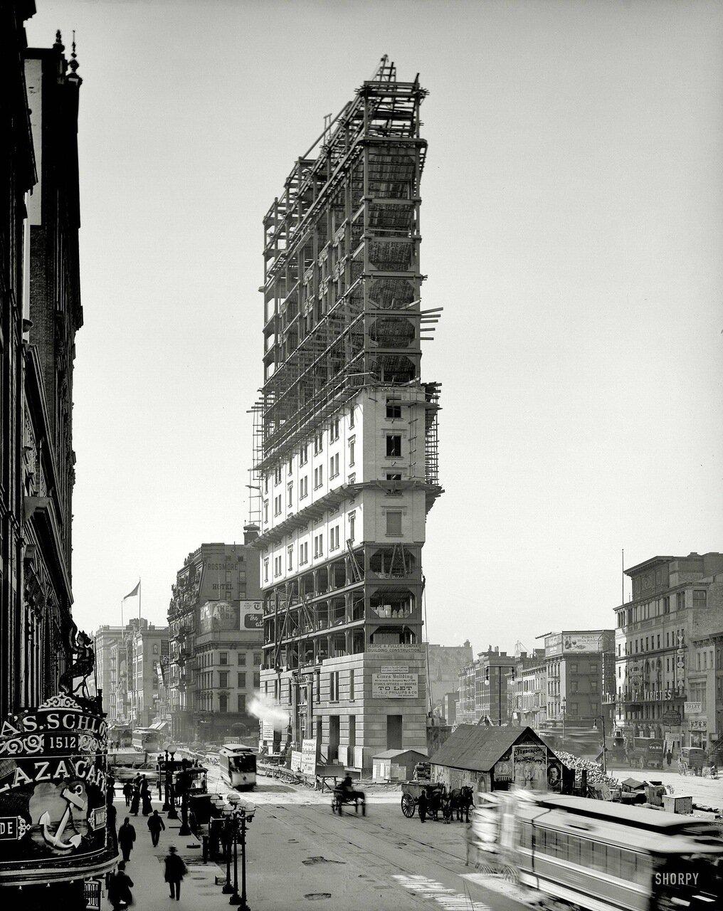 Строительство Таймс-Сквер.1903 г.