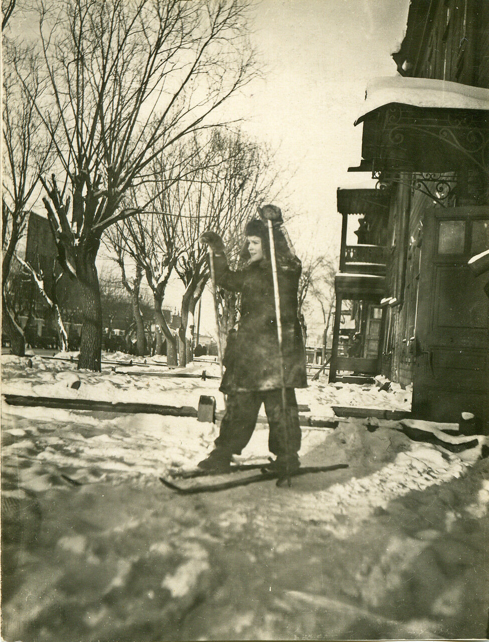 1939 г. Двор дома №6 по Дорогомиловскому валу.