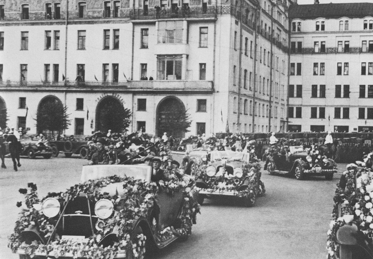 29. Торжественная встреча челюскинцев. Июнь 1934 года