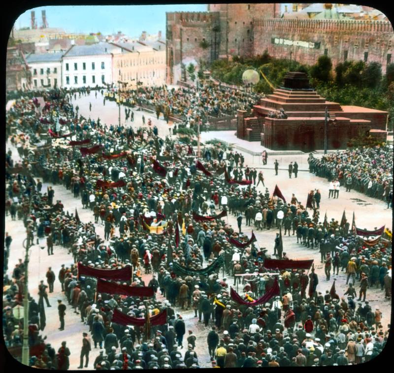 Москва. Красная площадь, парад советских работников