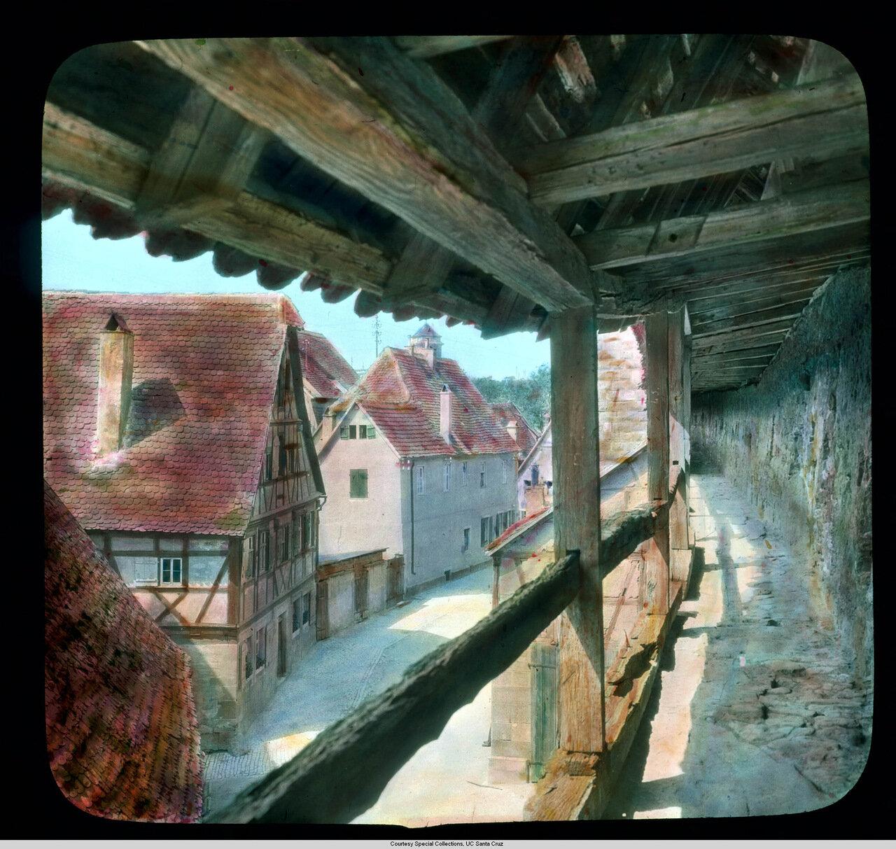 Ротенбург-на-Таубере.  Средневековые городские стены