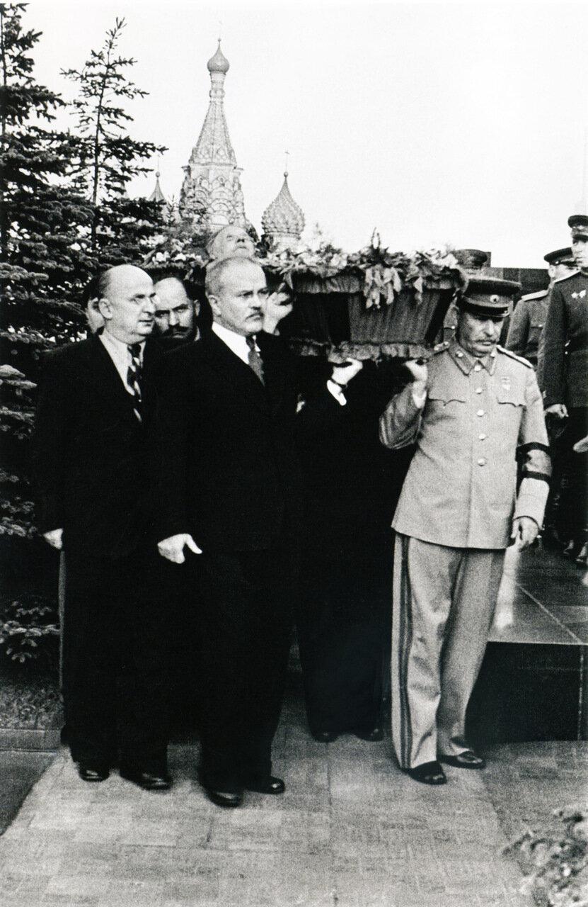 Похороны Михаила Калинина. Москва 1946 г.