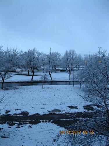 Первый снежок в Армавире.