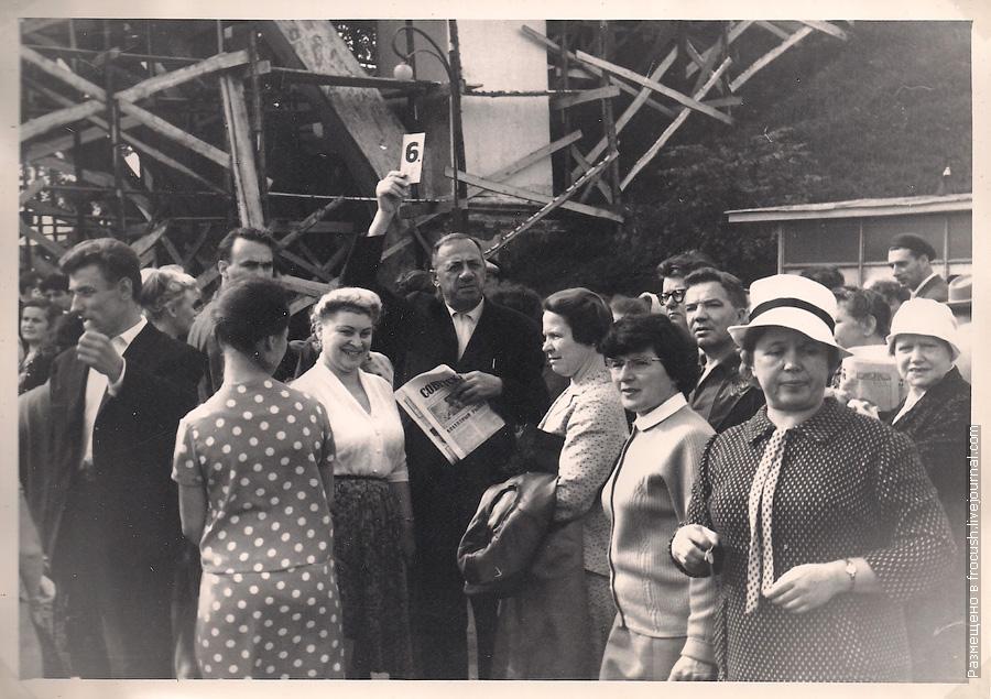 туристическая группа №6 теплохода Алеша Попович сентябрь 1965 года