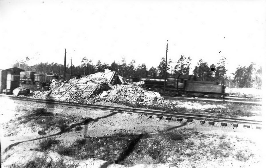 """1946. Вид блокпоста на механизированной горке станции """"Дарница"""""""