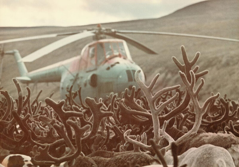 """Dmitry Baltermants Meeting in the tundra. From the """"Meetings with Chukotka"""" series. 1972"""