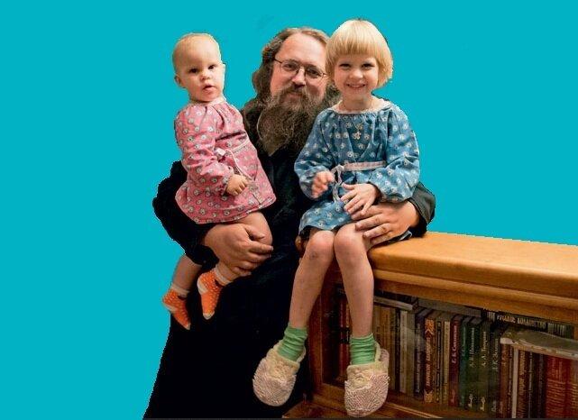 Православные детки-блондины и монгольского, брюнетистого замесу, Кураев Андрей, Диакон РПЦ.