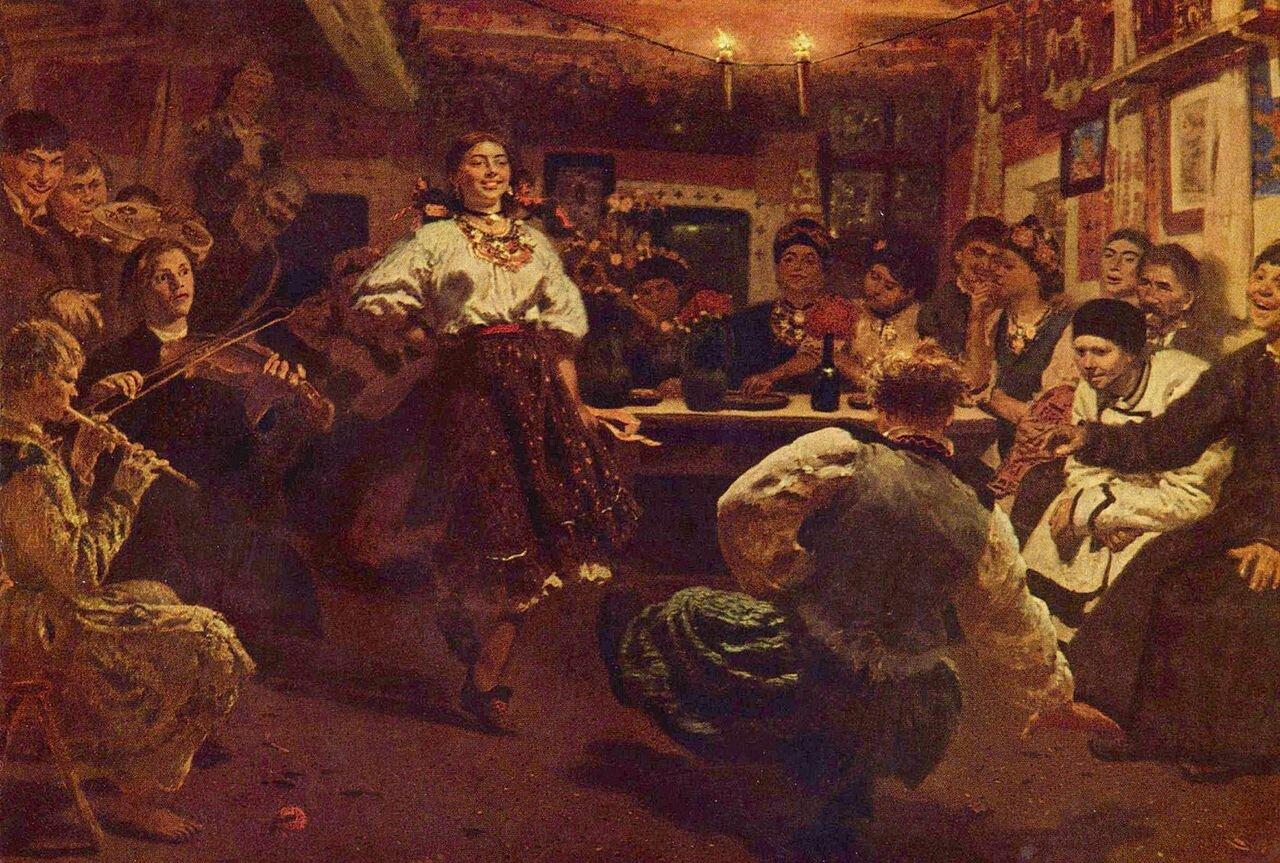 Вечеринка, 1881 г, Репин Илья Ефимович (1844-1930)