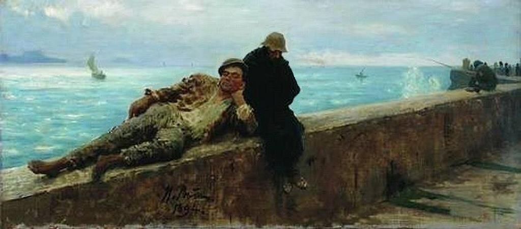 Босяки. Бесприютные. 1894, Этюд, Репин Илья Ефимович (1844-1930), Одесский художественный музей