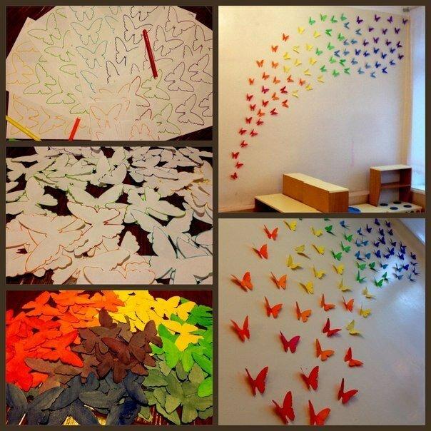 Бабочки из бумаги своими руками фото