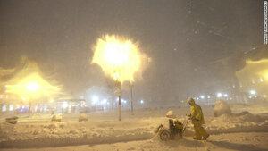 На Америку обрушился снежный шторм «Немо»